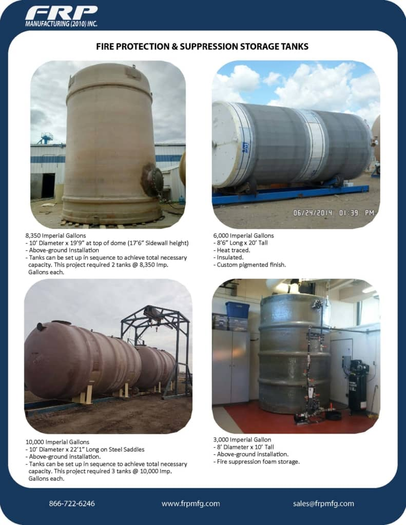 Fire Suppression Tanks | Fire Protection Tanks - FRP Manufacturing