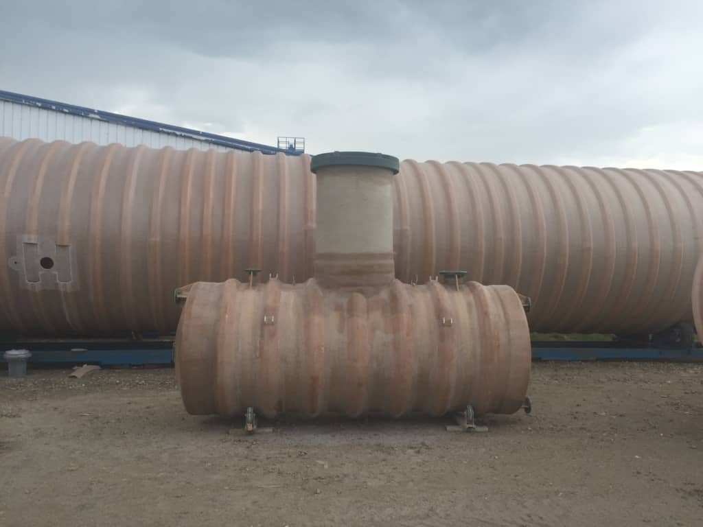 48″ D x 10′ L Potable Water Tank