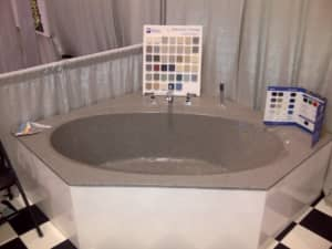 Gray Soaker Tub