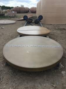 Custom Hinged Fiberglass Lids