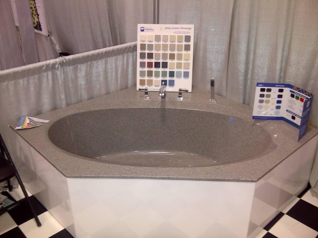 Gray Soaker Tub